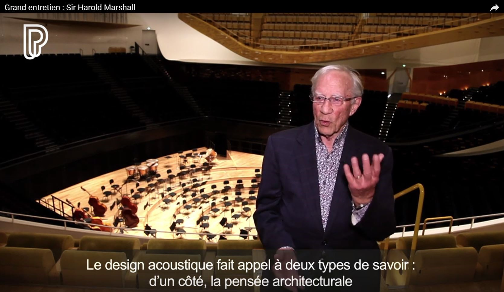 Interview with Sir Harold Marshall, Principal Acoustician of the Philharmonie de Paris, pioneer of lateral reflections and great innovator in concert hall design