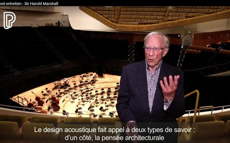 Interview de Sir Harold Marshall, principal acousticien de la Philharmonie de Paris, pionnier des réflexions latérales et grand innovateur dans la conception des salles de concert