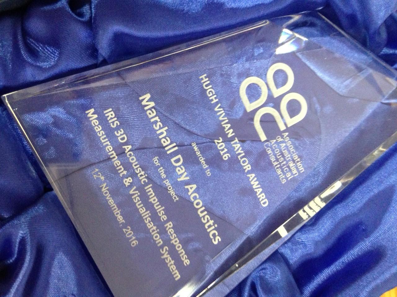 Hugh Vivian Taylor Award 2016